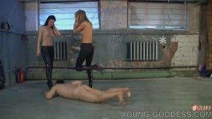 Two aggressive females dominates slave