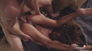 Майкл Вегас порет худенькую темнокожую шлюшку Сесилию Лайен