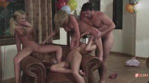 Three gorgeous young nurses staged a sex orgy