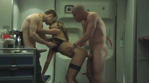 Pretty-stewardess flight brightens good fuck (rus)