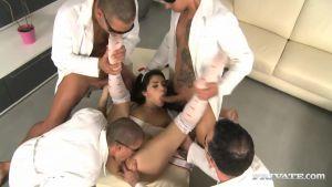 Busty Italian immediately cumed four men