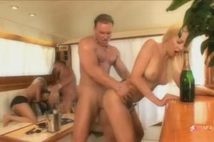 Madness on a yacht turns into a triple orgy