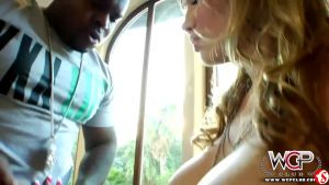 Russian girl tries to conquer Hollywood by letting the black guy culminate in the ass
