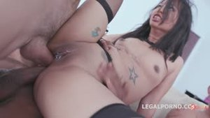 Girls fucked with double anal penetration and prolapse