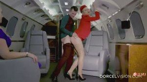 Together with a charter plane, rented cabin crew slut