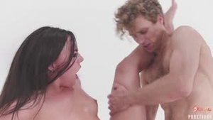 Orgy with driver and students from a school bus in virtual reality