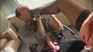 Boss is testing supersexual secretary on the desktop